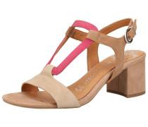 Sandalette hellbeige / braun / pitaya