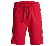 Sweatshorts rot / schwarz
