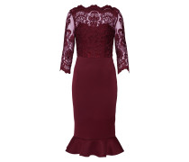 Kleid 'romaine' bordeaux