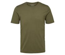 Rundhalsausschnitt-T-Shirt oliv