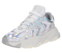 Sneaker 'extreme' silber / weiß