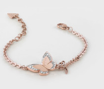 Armband 'Love Butterfly' rosegold / weiß