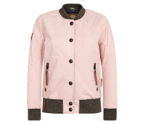Jacket 'U like dirty' braun / rosa