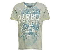 Shirt blau / grau