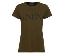 T-Shirt khaki / schwarz