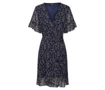 Kleid navy / braun / weiß