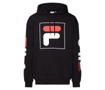 Sweatshirt 'total' rot / schwarz / weiß