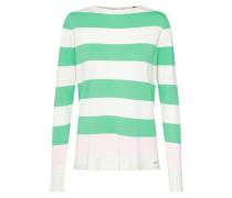 Pullover grün / weiß