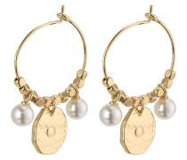 Ohrringe 'Affection' gold / perlweiß