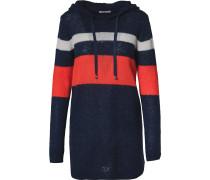 Pullover nachtblau / hellrot / weiß