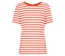 T-Shirt 'Nafela' orange / weiß