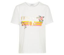 Shirt mit Stitching weiß