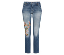 Loosefit Jeans mit Stickerei blue denim