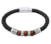Armband pueblo / schwarz / silber