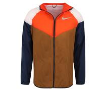 Sport-Jacke 'M NK Windrunner' braun / orange