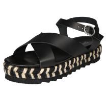 Sandale beige / schwarz