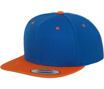 Classic Snapback royalblau / orange