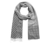 Schal graumeliert / weiß