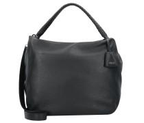 Handtasche 'Adria' Leder 34 cm schwarz