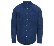 Hemd 'worker Shirt' royalblau / schwarz