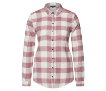 Bluse 'relaxed Check BL' altrosa