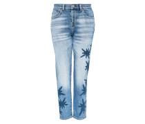 Girlfriend-Jeans blue denim