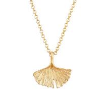 Halskette Ginkgo Natur gold / goldgelb