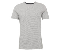 Gestreiftes T-Shirt 'heather stripe' grau