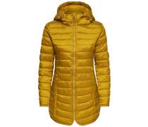 Steppjacke goldgelb