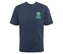 T-Shirt grün / dunkelblau