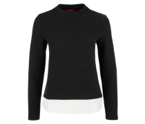 Strukturshirt schwarz / weiß