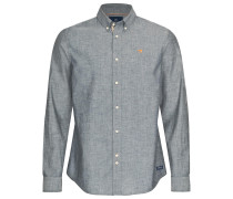 Shirt 'Chambray' grau