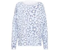 Sweatshirt mit Leoprint hellblau