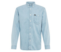 Hemd 'riveted' blue denim