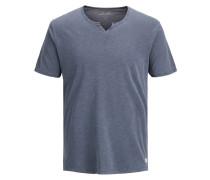 Split-Neck T-Shirt taubenblau