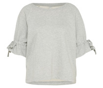 kurzes Sweatshirt graumeliert