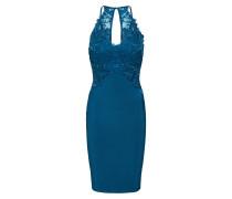 Kleid 'teal Applique High Neck Bodycon'
