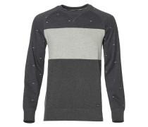 Sweatshirt 'Step' beigemeliert / anthrazit
