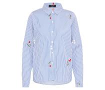 Bluse 'gixan' blau / weiß