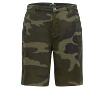 Shorts 'narizo' braun / dunkelgrün