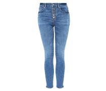 High-Waist-Jeans mit Knopfleiste