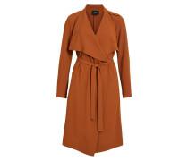 Lange drapierte Mantel orange