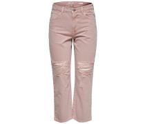 Chad High Waist Straight Fit Jeans pink