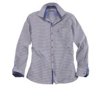 Trachtenhemd im Karo-Design blau