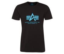 Print-Shirta hellblau / schwarz