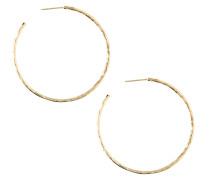 Ohrringe 'Hammered Hoop' gold