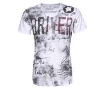 T-Shirt 'Driving' weiß