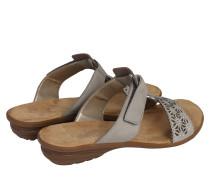 Sandalette 'Strass' grau