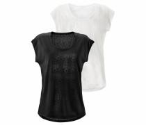 T-Shirts (2 Stück) schwarz / weiß
