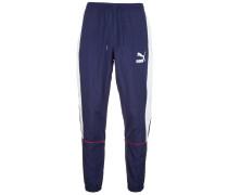Jogginghose 'Retro Woven' blau / weiß